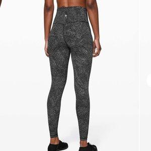 "Lululemon Align Pant free spirit ice grey black 28"" inseam size 8"